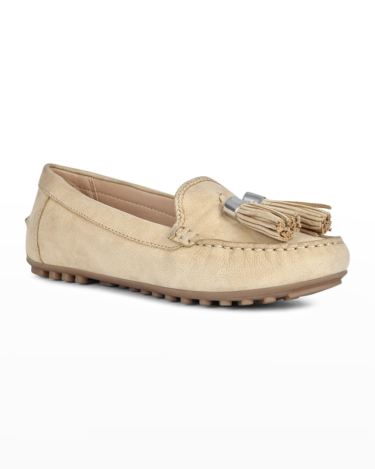 Leather Tassel Driver Loafers