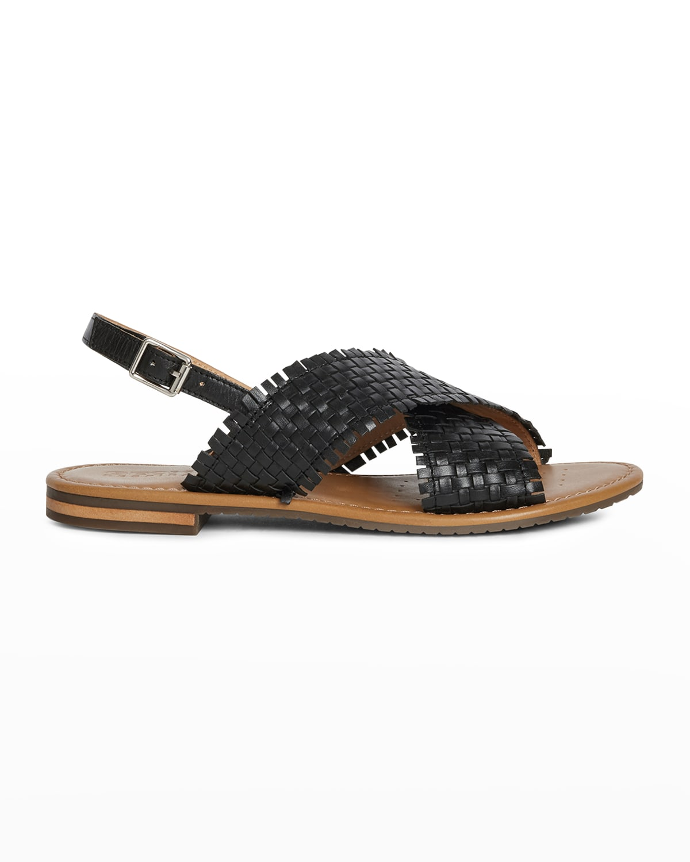 Woven Flat Slingback Sandals