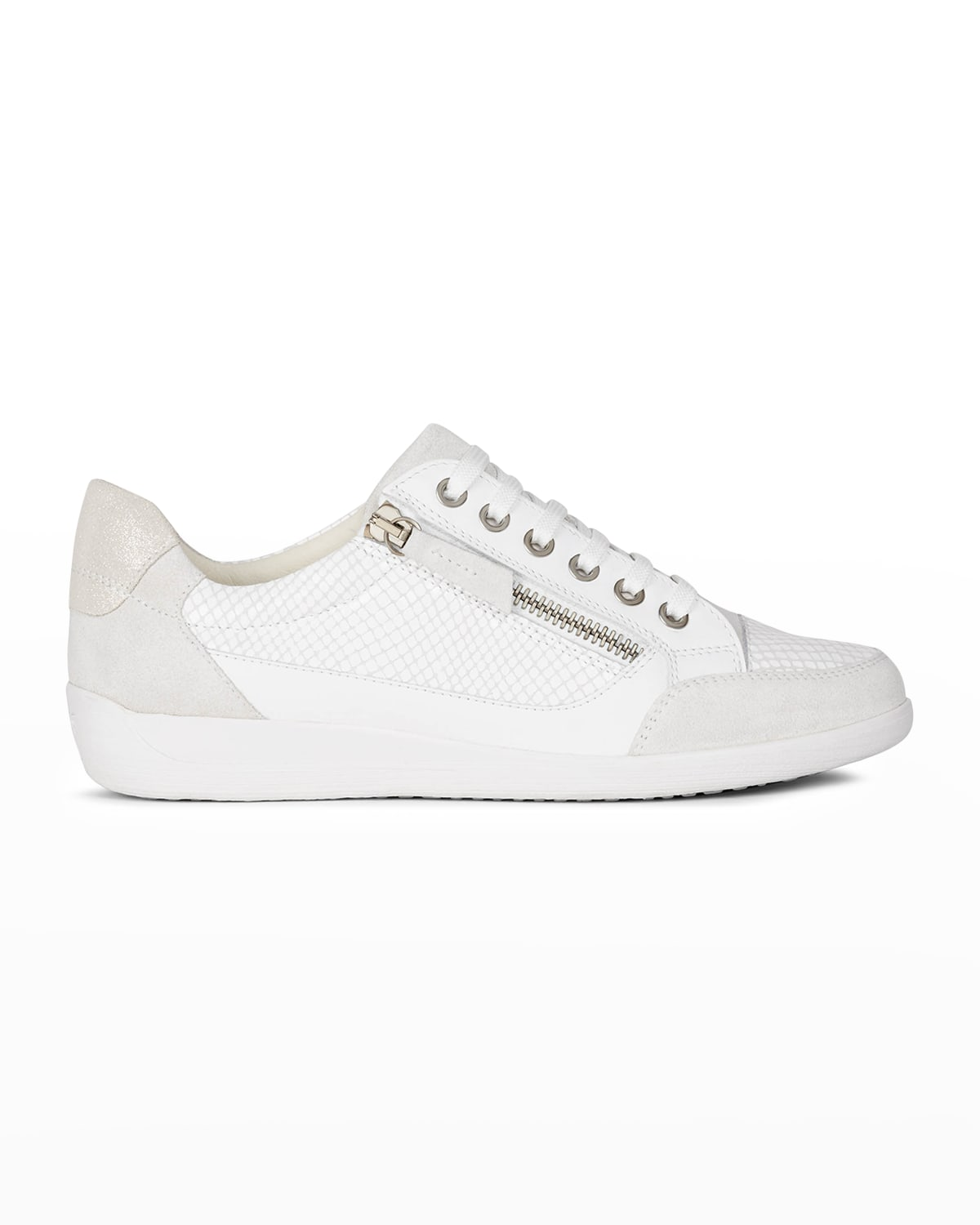 Myria Mixed Leather Zip Sneakers