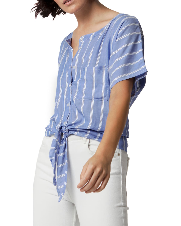 Fleming Striped Tie-Waist Top
