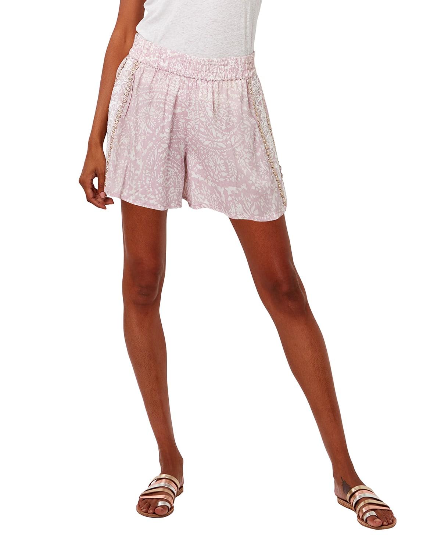 Coconut Flirt Shorts w/ Beaded Embroidery