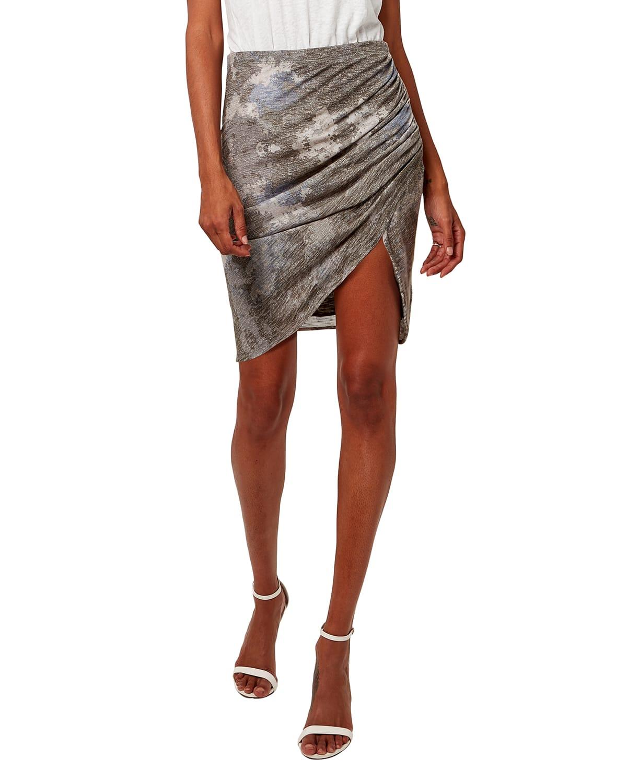 Val Drape Mini Print Skirt