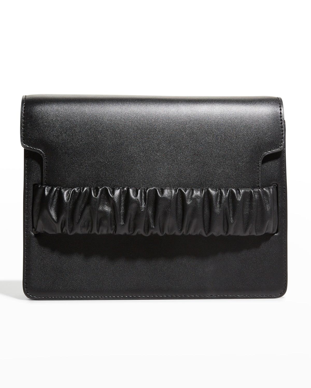 Chouchou Ruched Square Box Shoulder Bag
