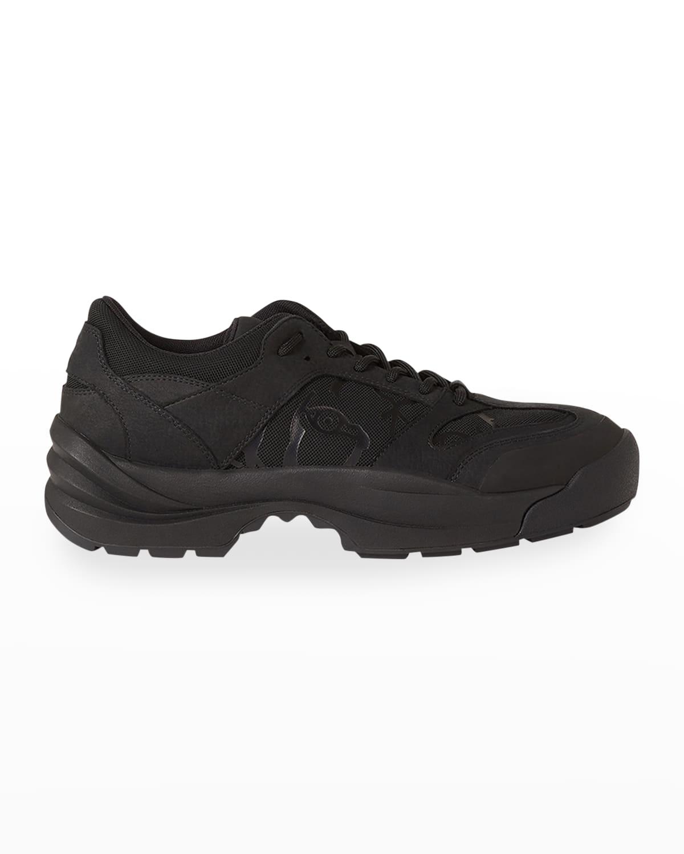 Men's Work Leather Low-Top Sneakers