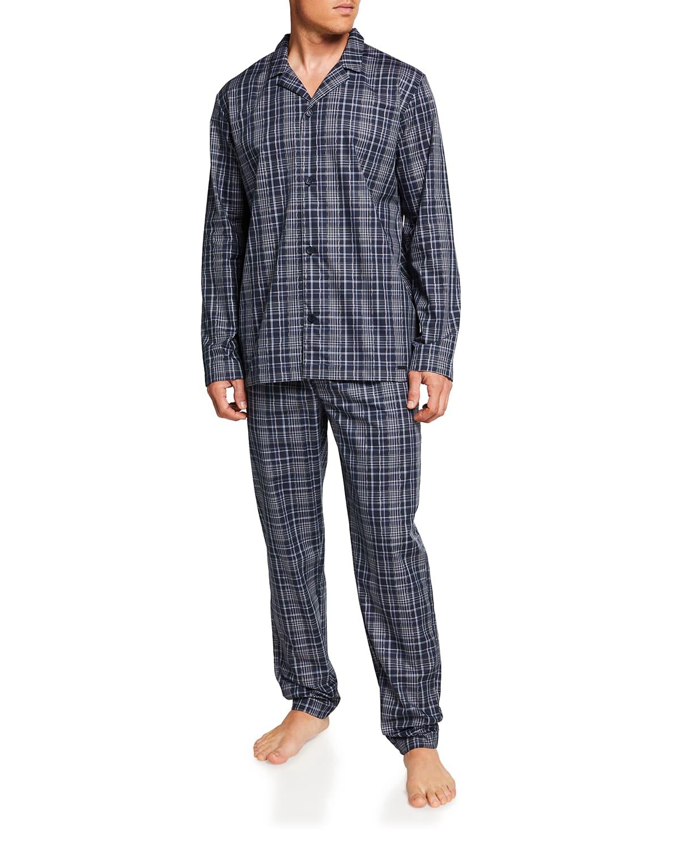 Men's Yanis Elegant Check Pajama Set