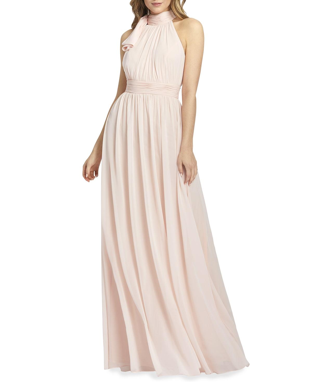 Grecian Chiffon Halter Gown