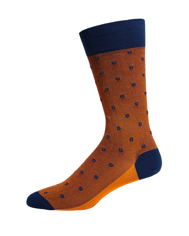 Men's Dotted Cotton-Blend Socks