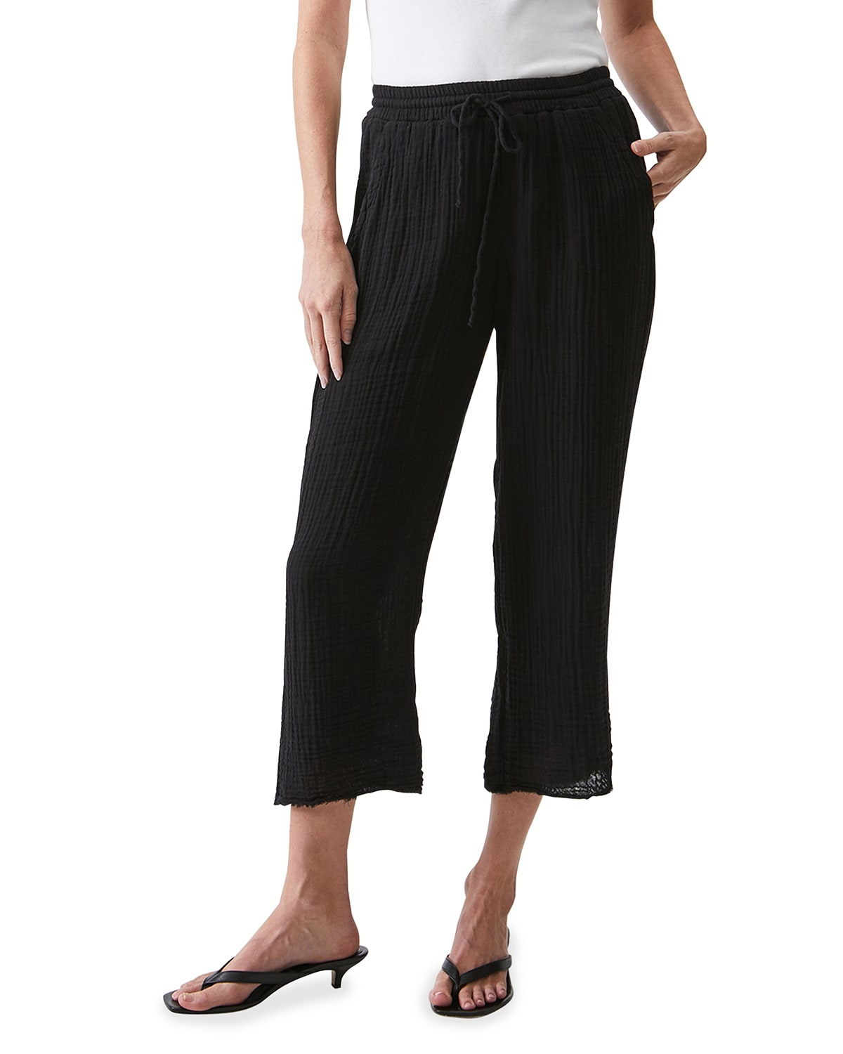 Ashton Pull-On Tapered Cropped Pants