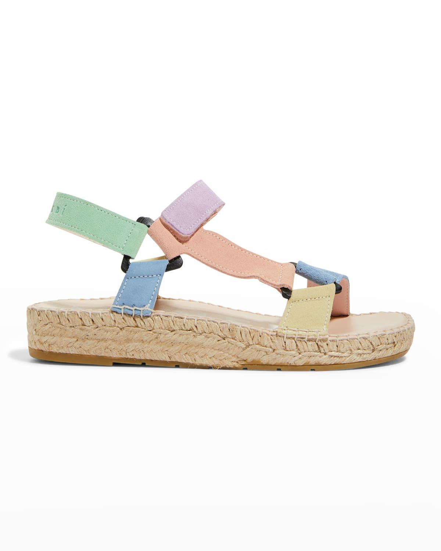 Suede Espadrille Hiking Sandals