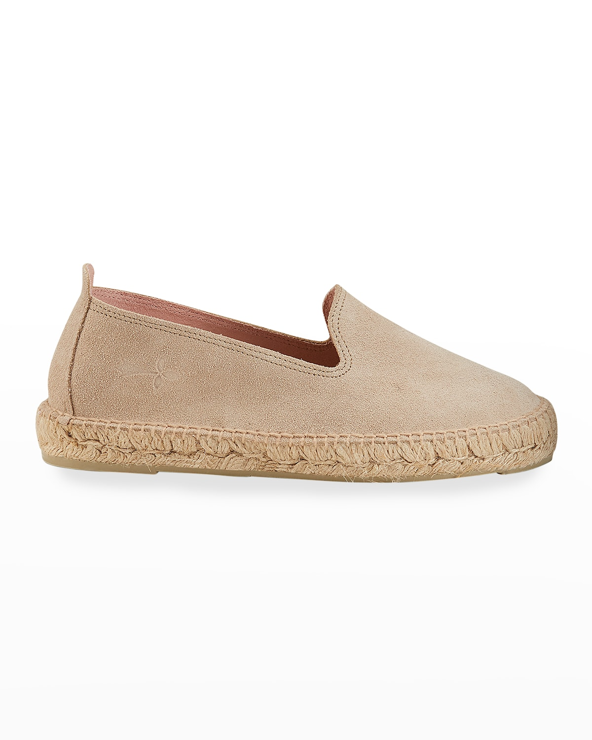 Suede Flat Espadrille Loafers