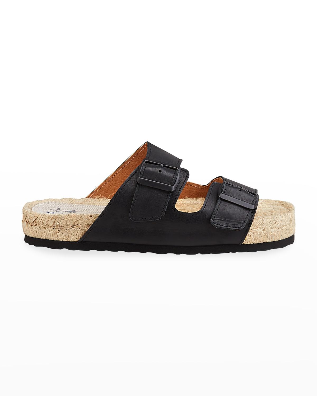 Nordic Dual-Buckle Slide Sandals