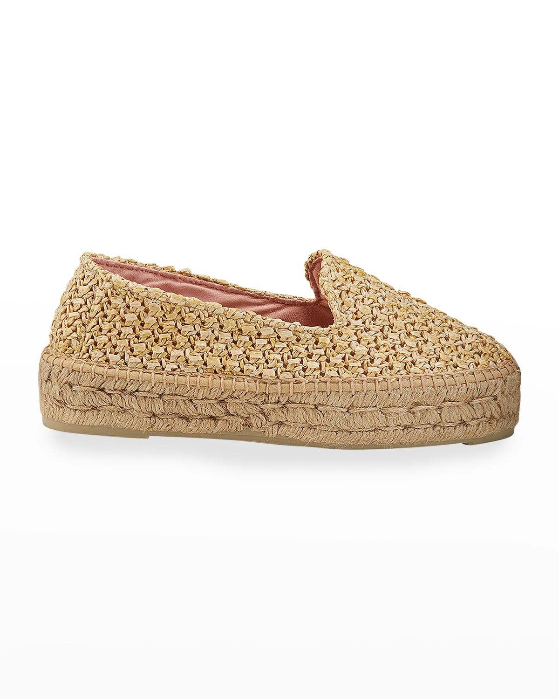 Raffia Flat Espadrille Loafers