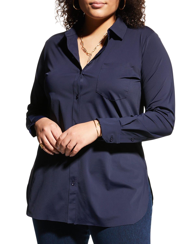 Plus Size Schiffer Button-Down Shirt
