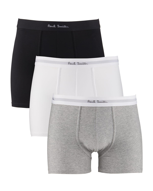 Men's 3-Pack Solid Boxer Trunks