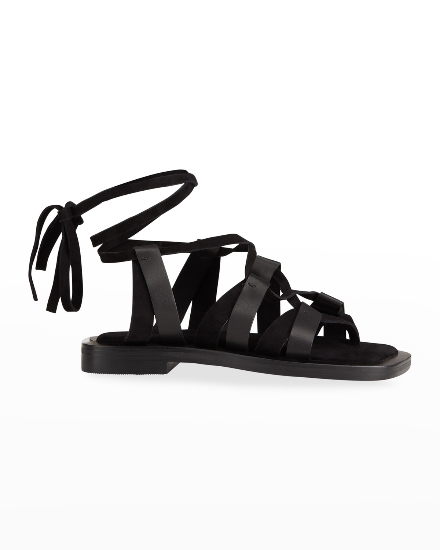 Niko Toe-Strap Gladiator Flat Sandals