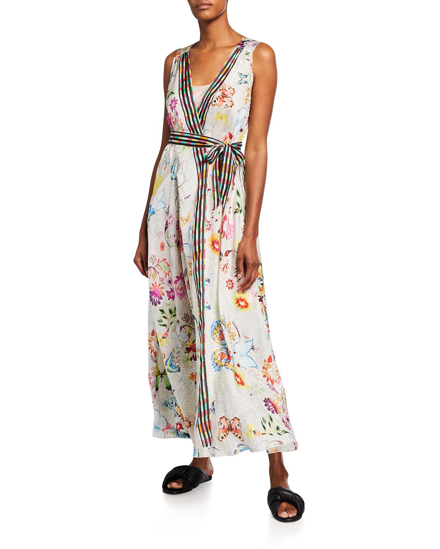 Edith Long Sleeveless Dress w/ Slip