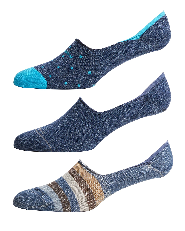 Men's 3-Pack Invisible Socks