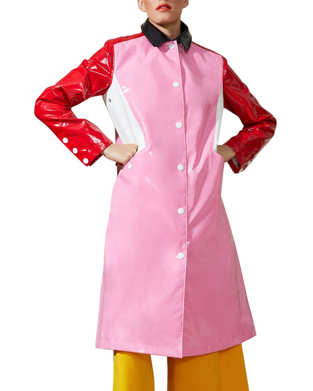 Colorblock Long City Slicker Coat