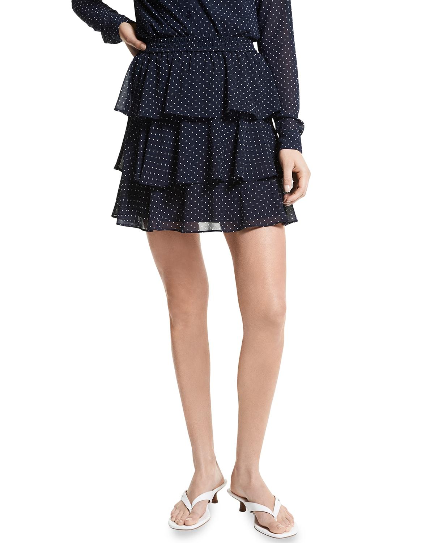Dotted Flirty Ruffle Skirt