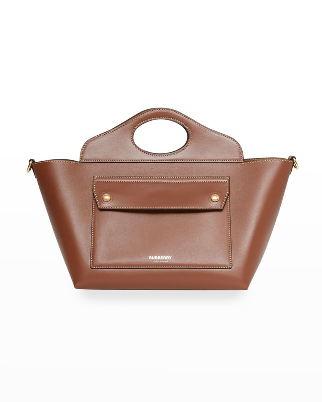 Pocket Mini Calfskin Top Handle Tote Bag