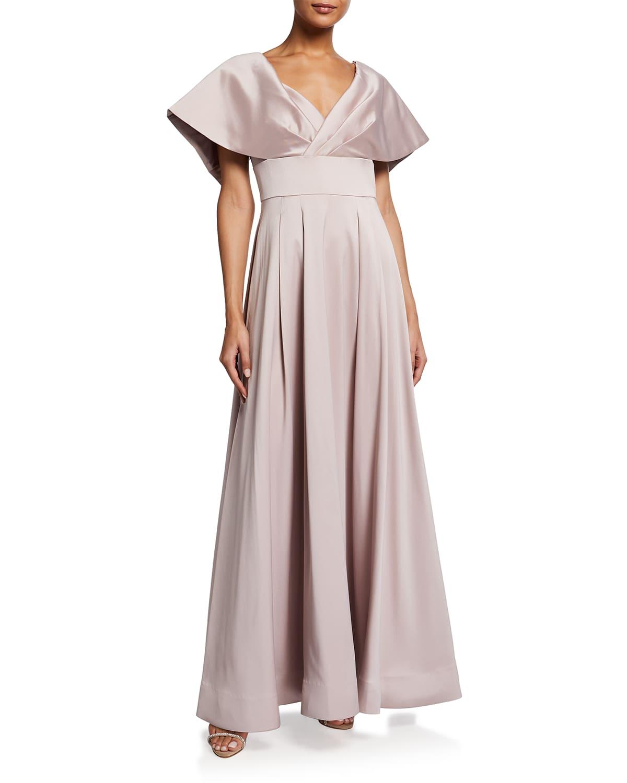 Stretch Mikado A-Line Gown