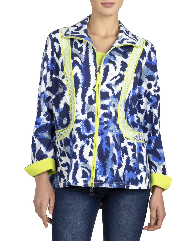 Indigo Fantasy Leopard-Print Jacket