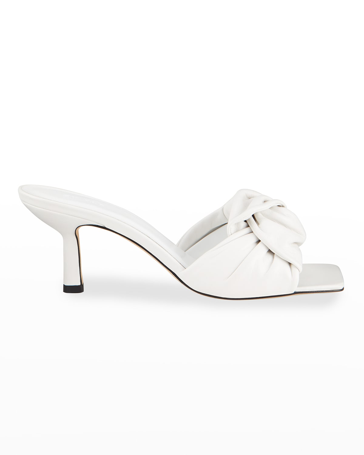Lana Knotted Leather Slide Sandals