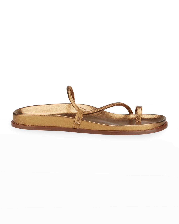 Bari Metallic Napa Toe-Ring Sandals