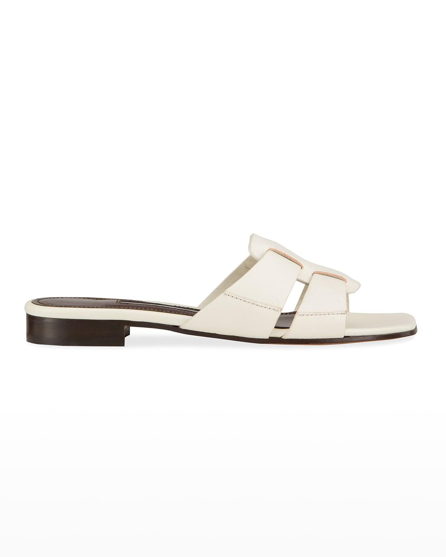Leo Calf Leather Slide Sandals