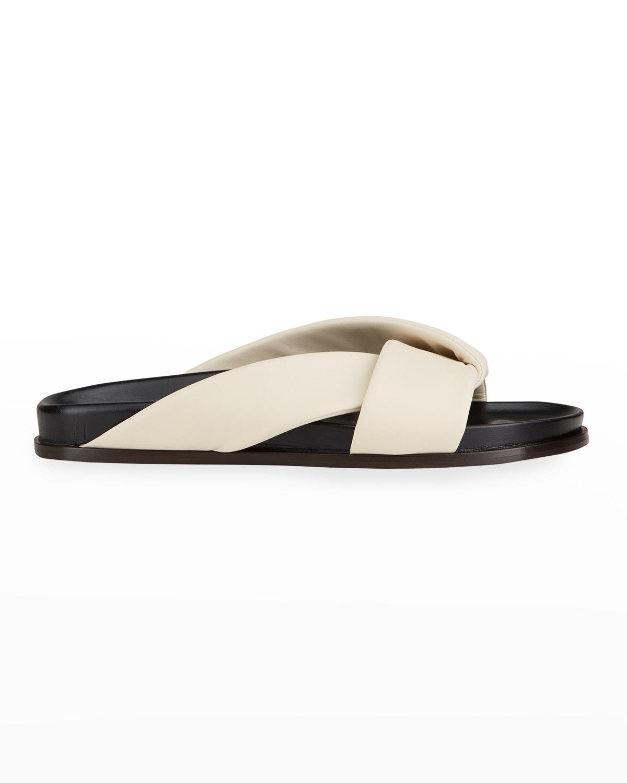 Folded Napa Slide Sandals