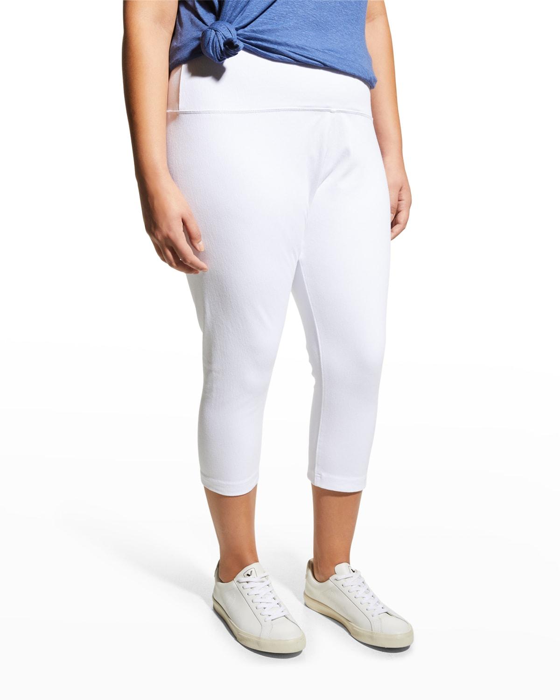 Plus Size Stretch Denim Capri Pants