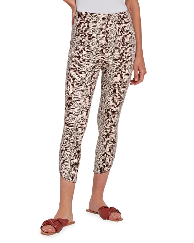 Jasmyne Lizard Ponte Cropped Pants