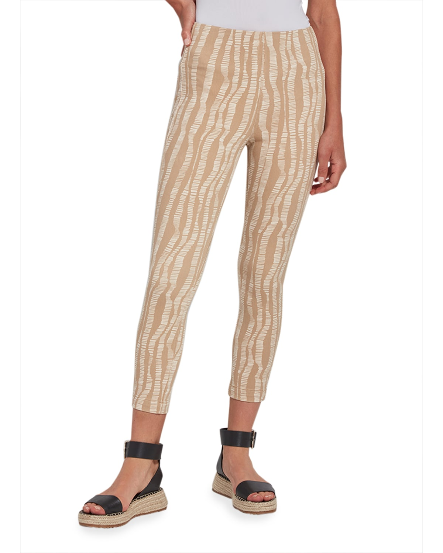 Toothpick Zebra Cropped Pants