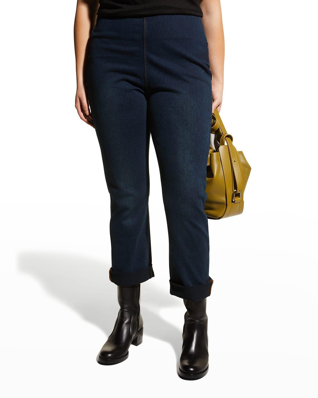 Plus Size Stretch Cotton Boyfriend Jeans