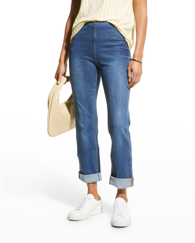 Stretch Cotton Boyfriend Jeans