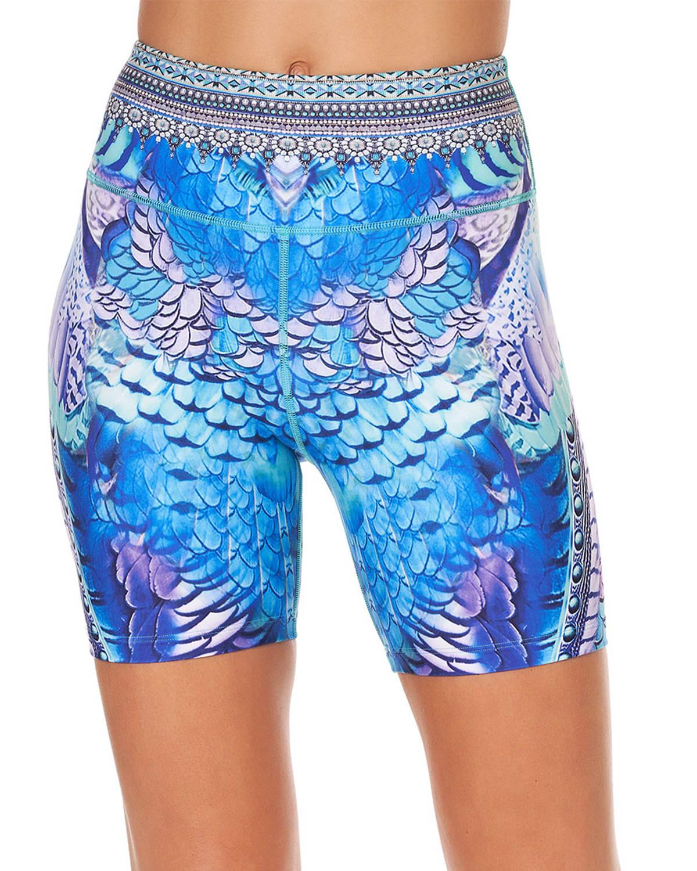 High-Rise Printed Bike Shorts