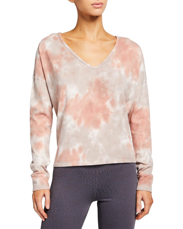 Cloud Dye Open-Neck Pullover
