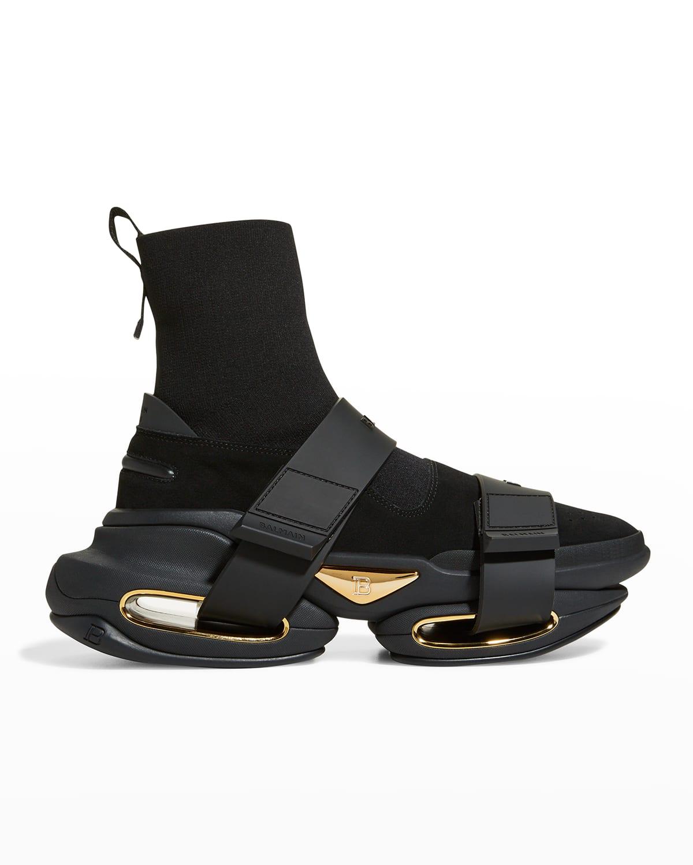 Men's BBold Metallic Cutout Fashion Sneakers