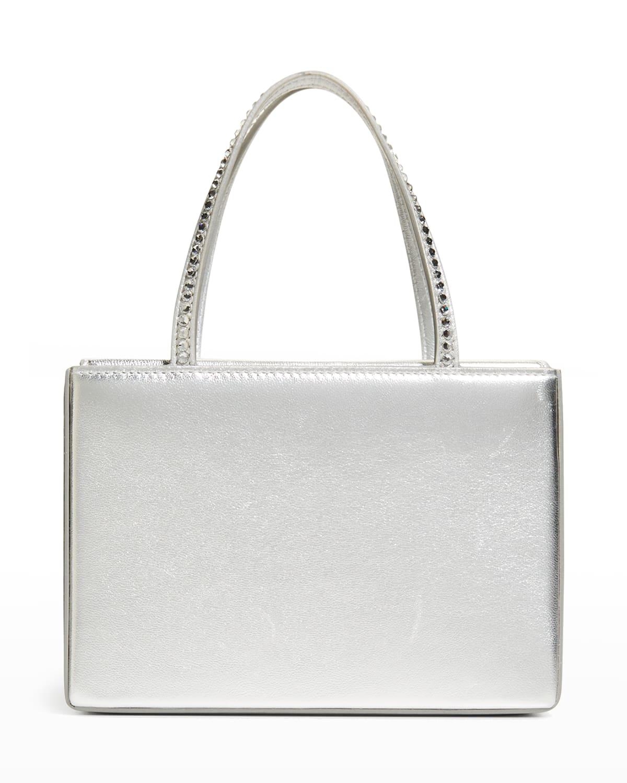 Amini Gilda Napa Embellished Top-Handle Bag