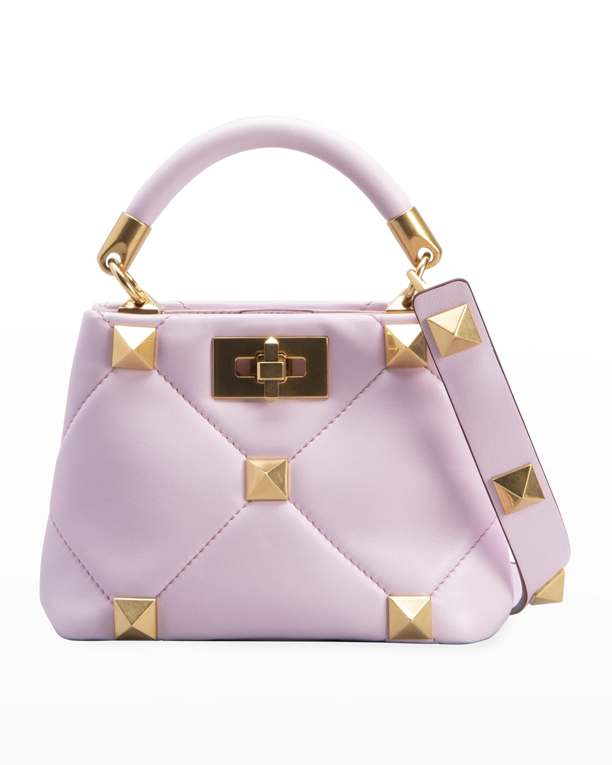 Roman Stud Quilted Mini Top-Handle Bag