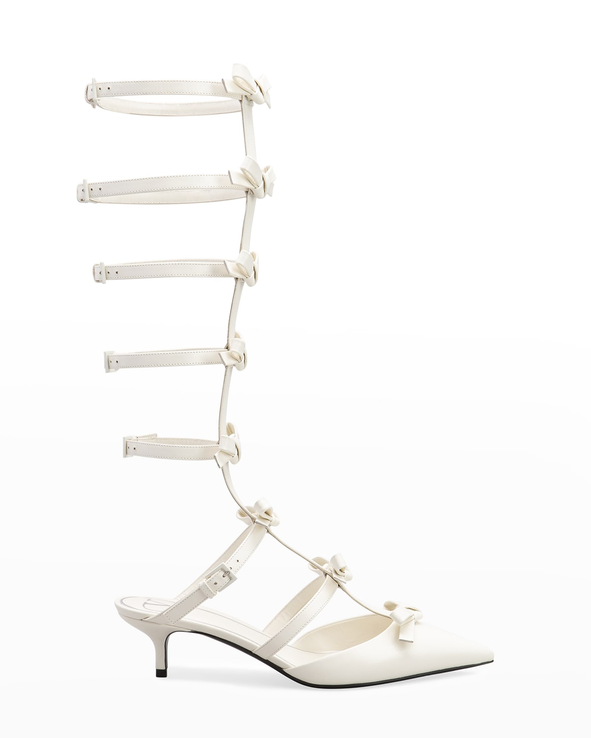 French Bows Gladiator To-The-Knee Pumps