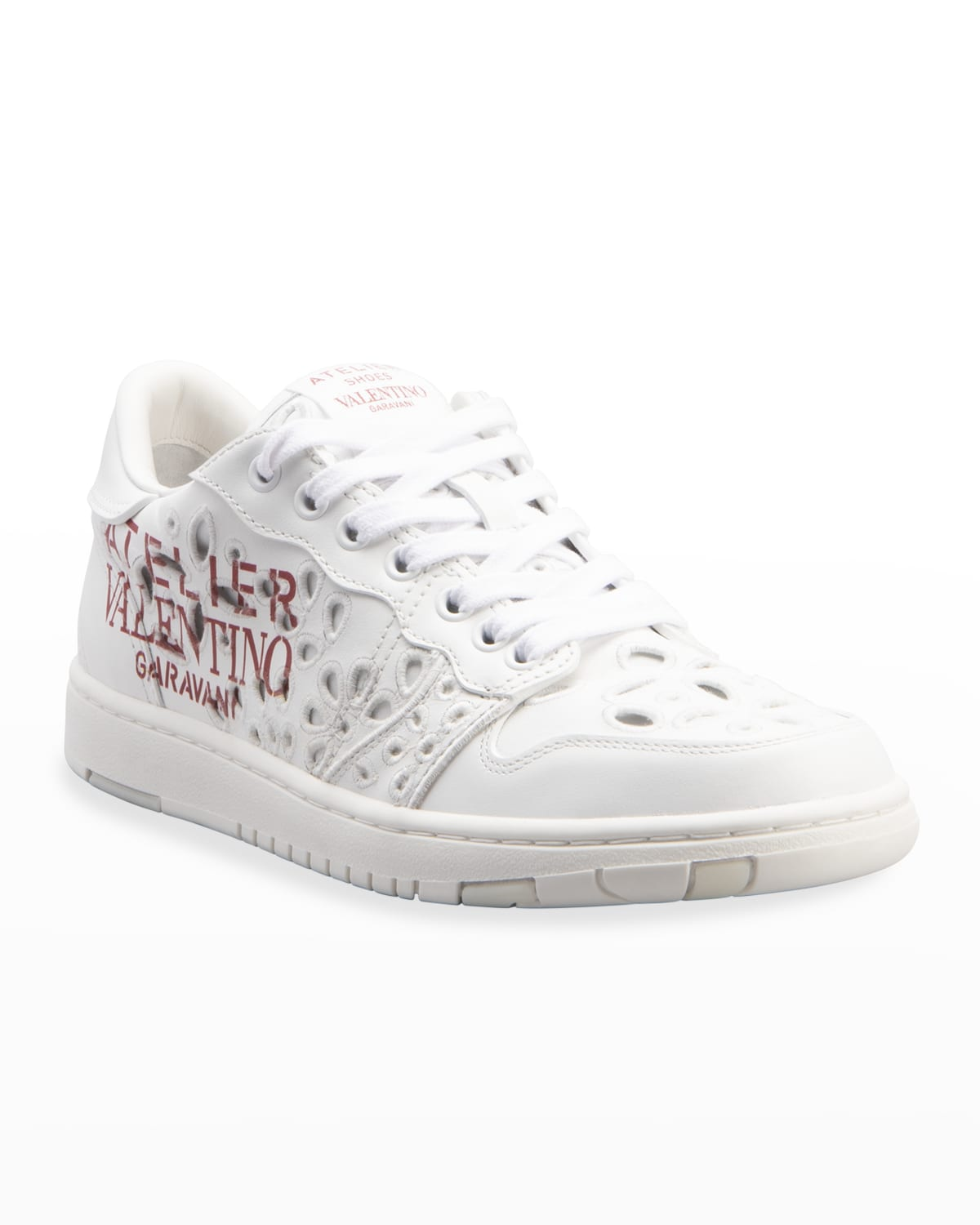 Eyelet Leather Low-Top Sneakers