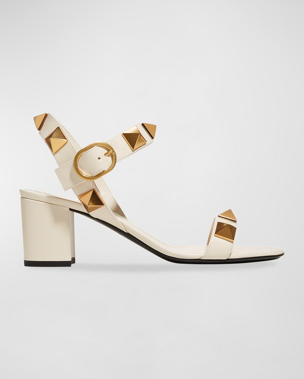 Roman Stud Ankle-Strap Sandals