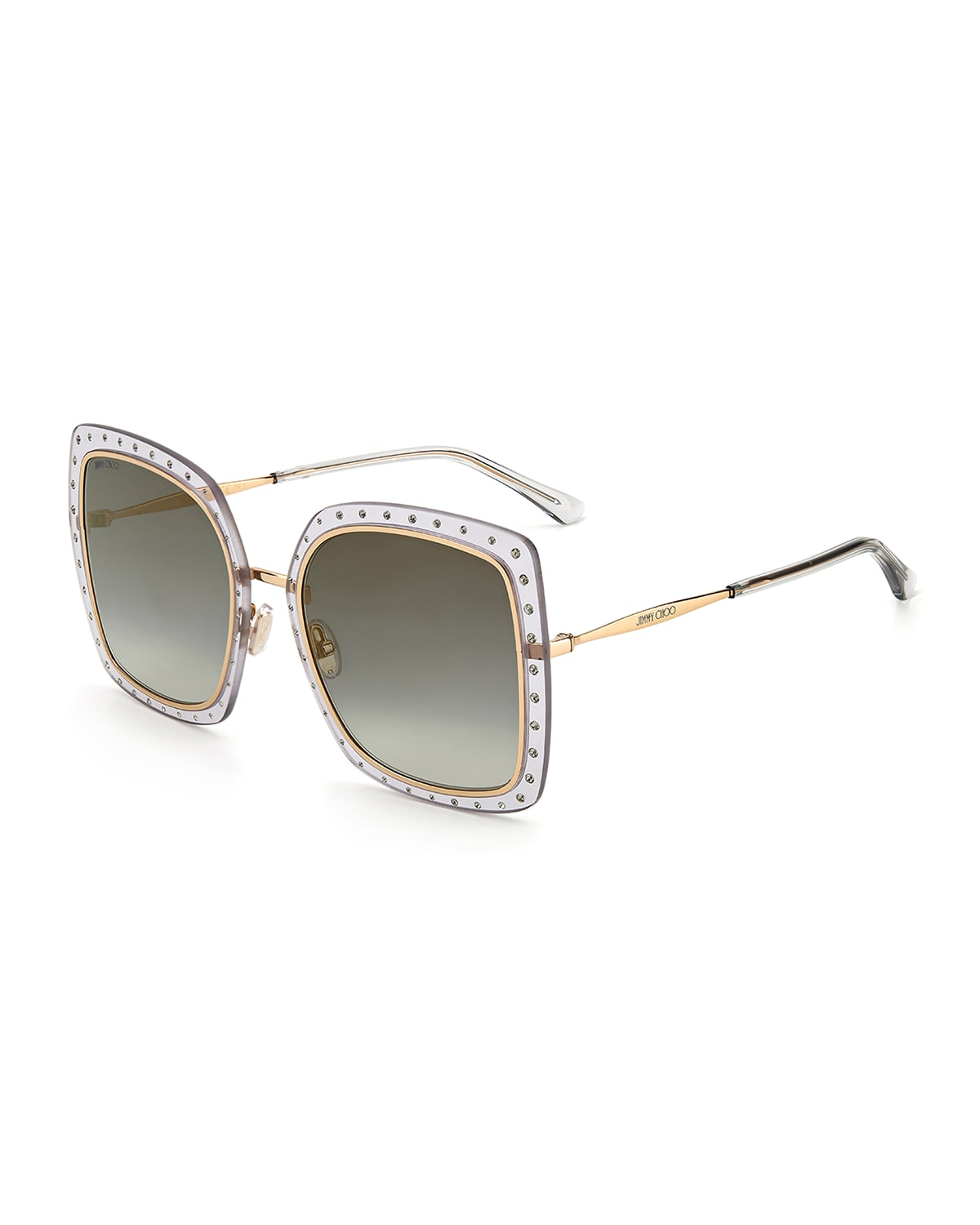 Dany Oversized Square Stainless Steel/Acetate Sunglasses