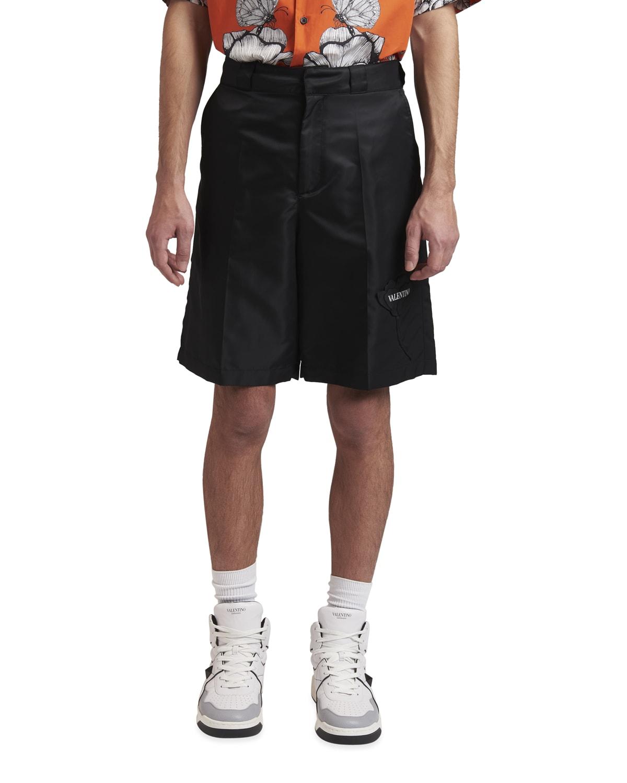 Men's Nylon Shorts w/ Logo Patch