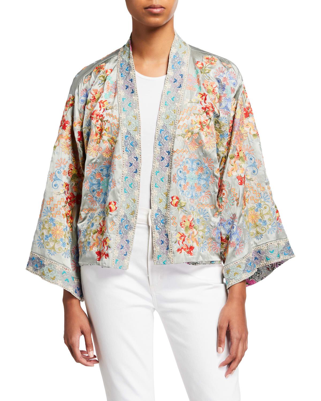Norah Reversible Silk Kimono