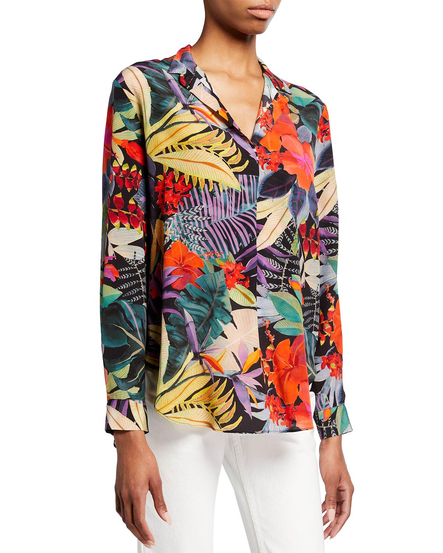 Amelia Collared Silk Shirt