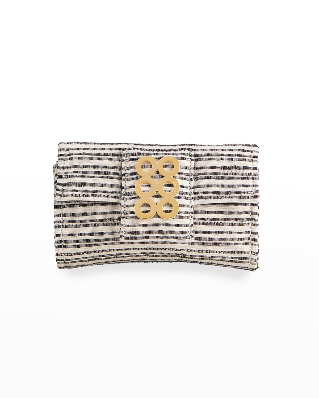 Amalfi VI Coin Circles Striped Crossbody Bag