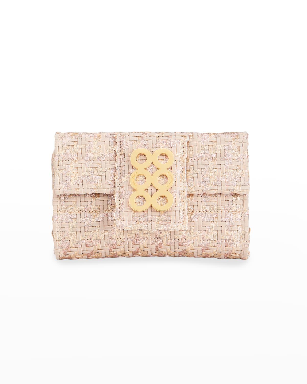 Amalfi VI Metallic Woven Coin Crossbody Bag