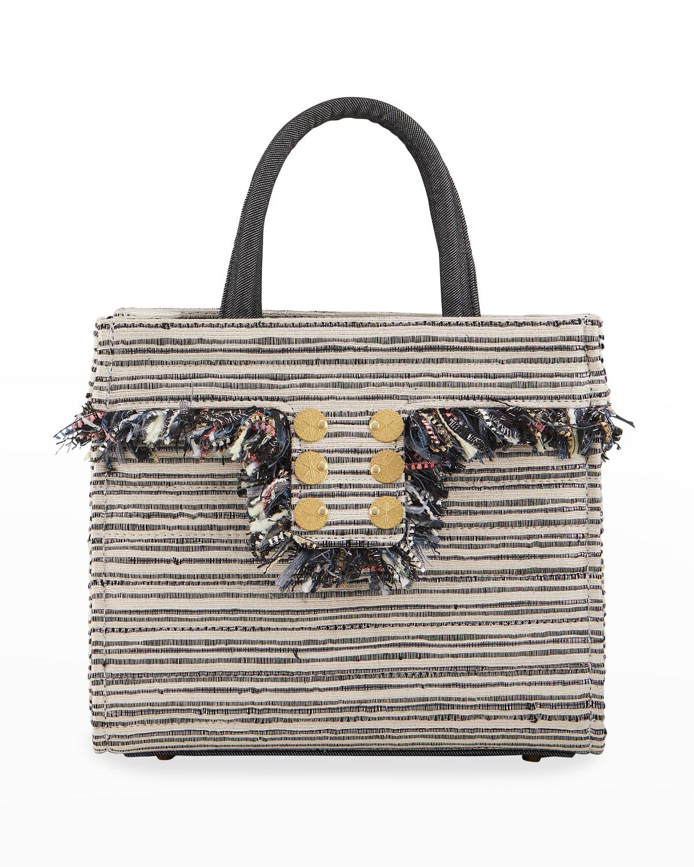 Riviera Minima Striped Coin Tote Bag